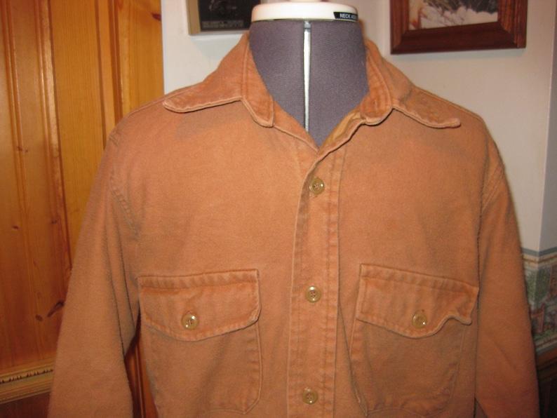 8cf7e96ec0b8b Vtg Mustard Gander Mountain Chamois Med flannel shirt md in | Etsy