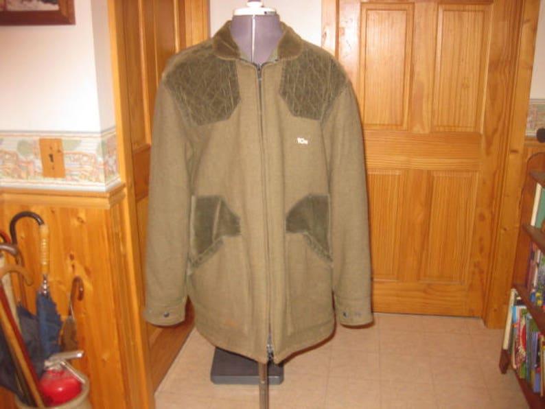 e4ecb5ab764dd Mens OLive 10 X shooting jacket 40 R hunting jacket green wool | Etsy