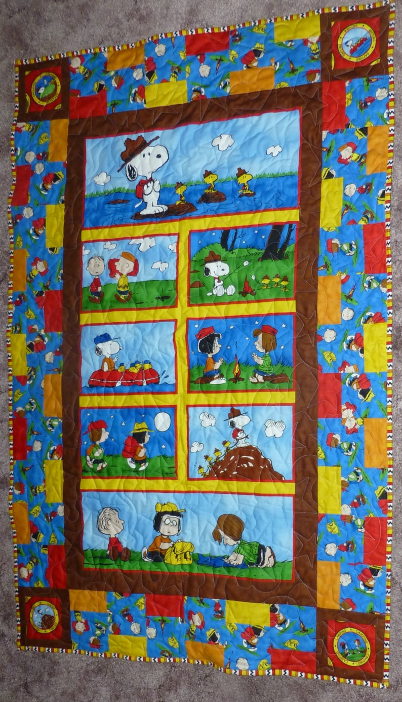 Peanuts Goes Camping Quilt Camping Pictures and Activities with the Peanuts Gang