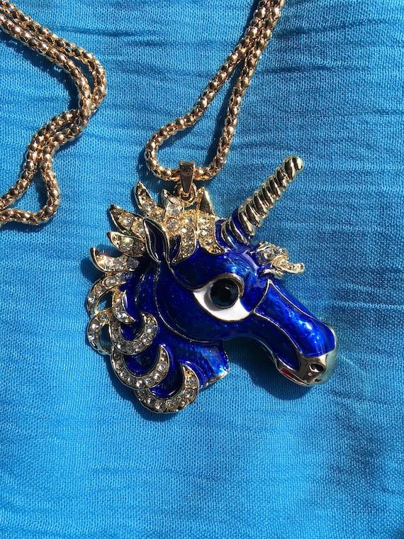 Royal Blue Unicorn Necklace! - image 6