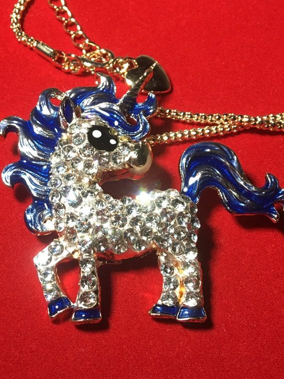Baby Blue Unicorn Necklace! - image 4