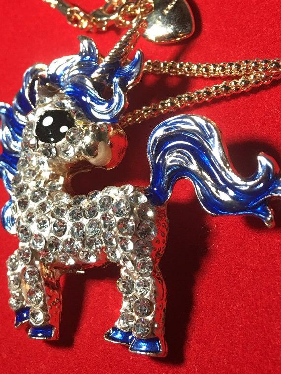 Baby Blue Unicorn Necklace! - image 6