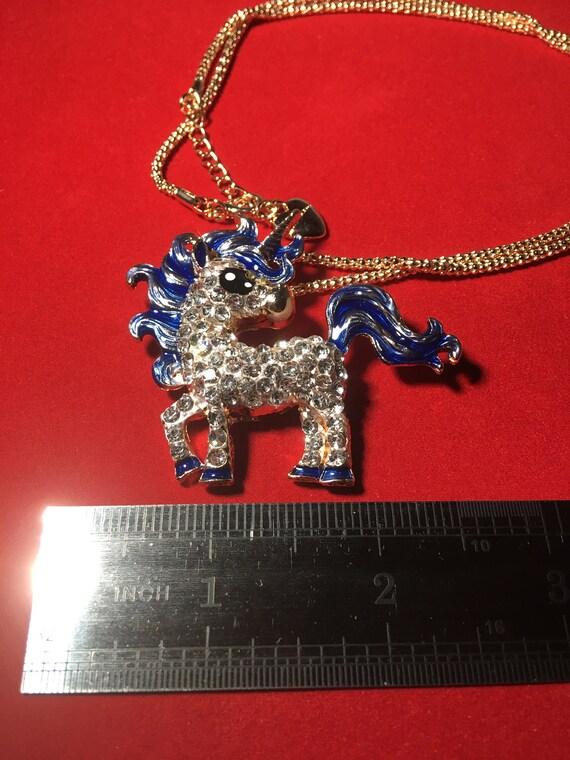 Baby Blue Unicorn Necklace! - image 2
