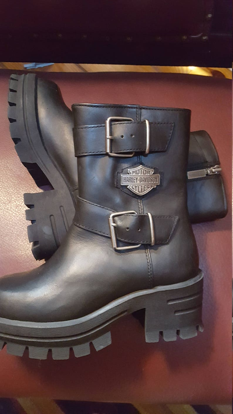 188bae3a3aff Women s Harley Davidson Zipper Boots Size US 5 UK 3 EUR 36