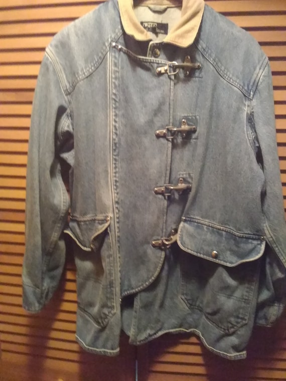 80s Ralph Lauren Distressed Denim Firemans Style J