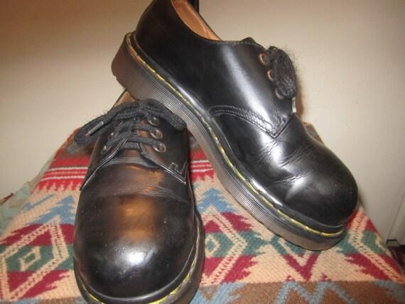 Vtg Doc Marten Black Oxfords Size UK 4 US 6 Made I