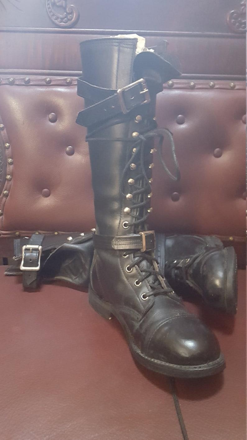 f2b53721b Vtg Tall Lace Up Womens Harley Davidson Boots No Size | Etsy