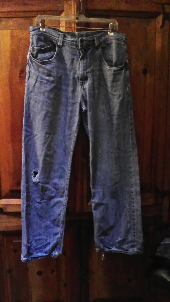 90s Distressed Billabong Skater Jeans Size 34x32