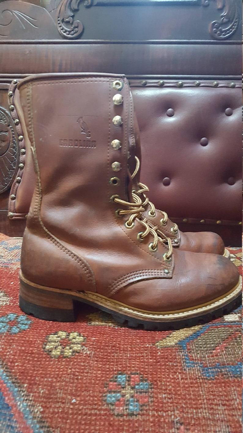 90s Distressed Carolina Boots Fits Women/'s Size 9.0