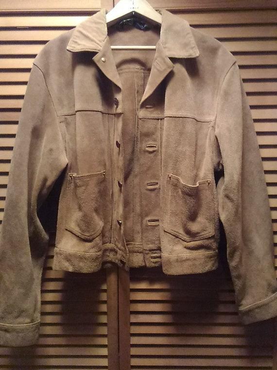 80s Ralph Lauren Suede Jacket Size M - image 1