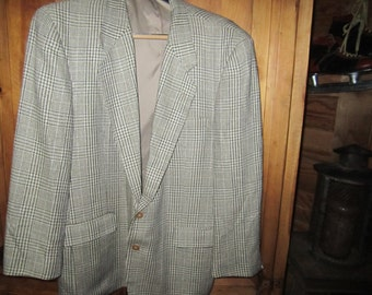 NWOT Oleg Cassini Couture Blazer Designed In Italy For Burdines 46R. Sold As Is