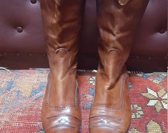 90s Women's Joan And David Boots Size 40 Made In Italy