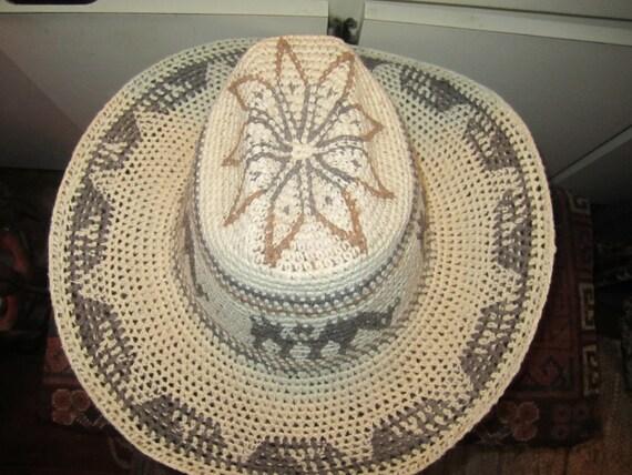 Vtg Mexican Cowboy Hat Size  23 Inches Circumferen