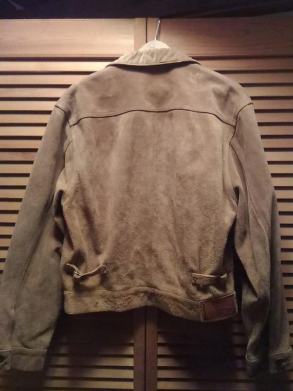 80s Ralph Lauren Suede Jacket Size M - image 3