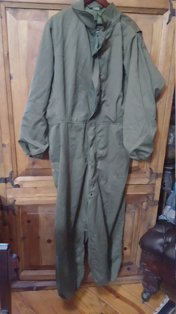 Army Green Coveralls/Jumpsuit Size L Sold As Is Re