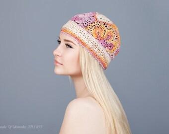 497eb5a015d Women s flower hat Summer beanies Crochet women s hats Summer women s hat  Hat handmade crochet Handmade girls hats Girls crochet hat