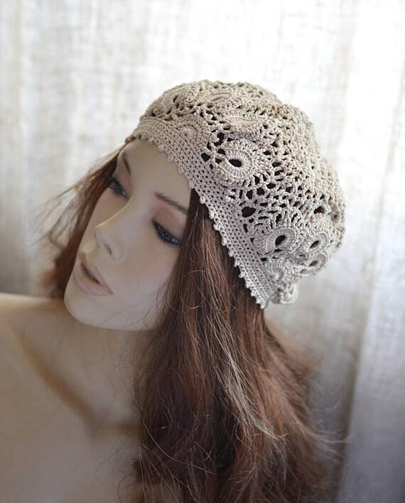 Womens hat Hats for women Crochet hat Summer hat Lace caps Hat  4d87320d6f4