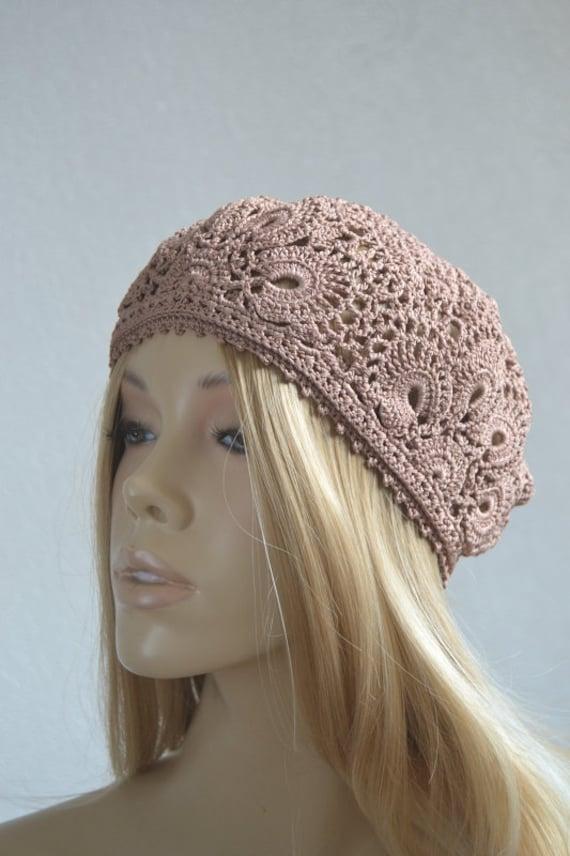 Lace crochet hats Crochet flower hat Crochet lace cap Summer  c0a473b3f70