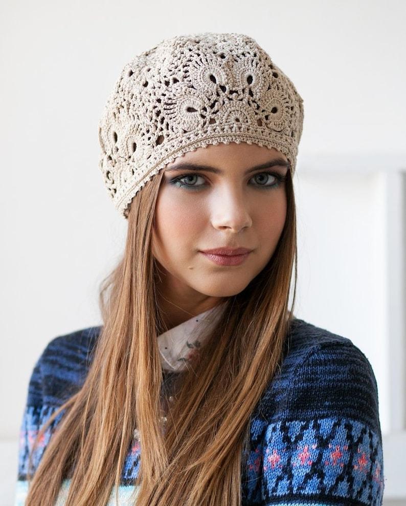 Crochet Hat Pattern Pattern Pdf Patterns Berets Crochet Cap Etsy