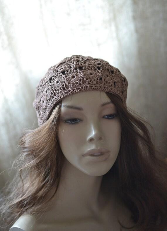Damen Häkeln Hut Gehäkelte Mütze Damen Hut Baskenmütze Sommer Etsy