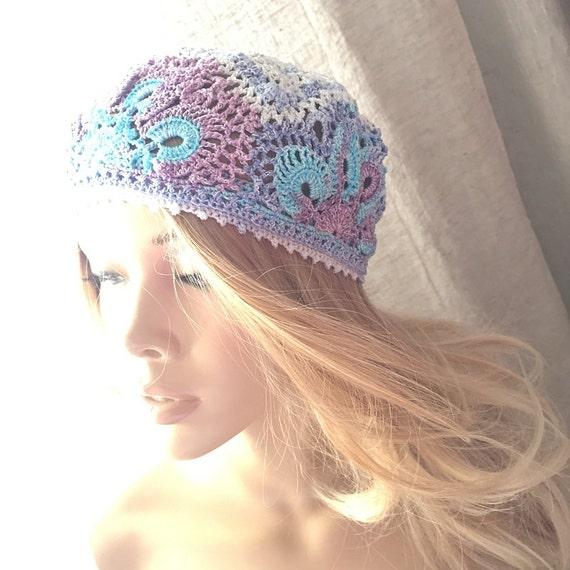 Sommer Mütze Häkeln Spitzen Hut Mütze Frauen Häkeln Baumwolle Etsy