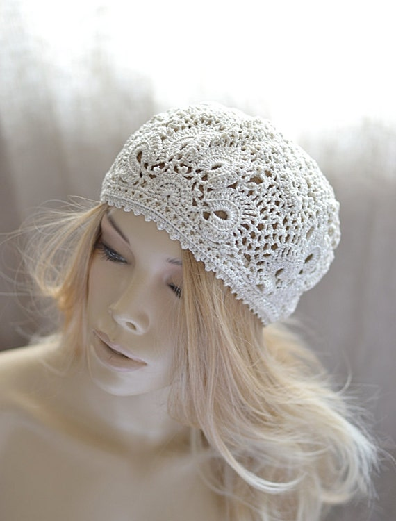 Crochet hat Cotton crochet hat Summer hats Crochet lace hat  b563211621e