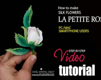 Video tutorial how to make SILK rose