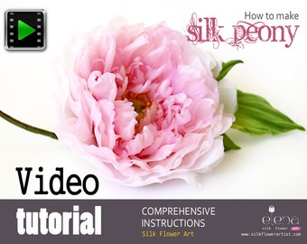 Making silk peony with professional flower making tools