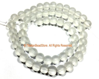 8mm Matte Crystal Round Beads - 1 STRAND Round Beads - 15 Inches Approx 55 Beads Gemstone Beads Strand - Jewelry Making Supplies - GM92