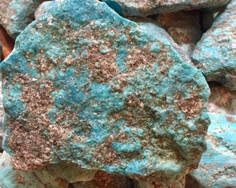 High Grade, Kingman Arizona Turquoise Rough Stabilized - 10 lbs - FREE SHIPPING (U.S.A.) - Lapidary Rough American Turquoise - Item#KAT88-10