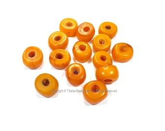 4 Beads - Tibetan Amber Copal Resin Beads - Ethnic Tribal Amber Copal Beads - A3252-4