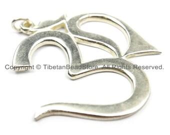 LARGE Nepal Tibetan Sanskrit Om Mantra Pendant - OM Yoga Pendant- Boho Om Pendant- Nepalese Jewelry Tibetan Jewelry TibetanBeadStore- WM5903