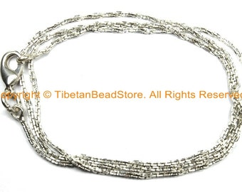 """18 inch Finished Silver Plated Chain 1.5mm Lobster Clasp - 18"""" Silver Plated Chain - CN38L-18"""