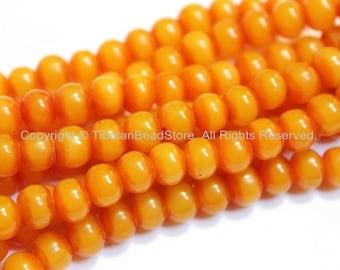 20 BEADS BIG 10mm Size Tibetan Resin Beads- Mala Supplies Light Weight Amber Color Resin Beads Tibetan Beads - LPB115B-20