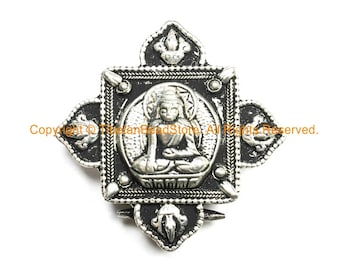 Tibetan Buddha Ghau Prayer Box Pendant - Ethnic Artisan Handmade Jewelry - WM14B