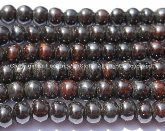 10 BEADS 10mm Tibetan Black Bone Beads- Tibetan Beads Nepalese Beads Tibetan Bone Beads Ethnic Tribal Bone Beads Black Bone Beads LPB74-10