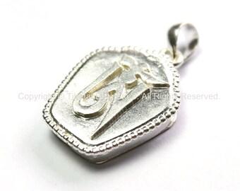 Fine Quality Tibetan OM Mantra Ghau Prayer Box Silver-Plated Amulet Pendant - Om Aum Ohm - Tibetan Meditation Buddhist Jewelry - WM3058