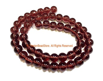 8mm Amethyst Color Beads - 1 STRAND - Round Amethyst Color Beads - 15 Inches Strand Approx 50 Beads - Jewelry Bead Supplies - GM102