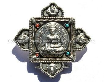 Tibetan Buddha Ghau Prayer Box Pendant - Ethnic Artisan Handmade Jewelry - WM14