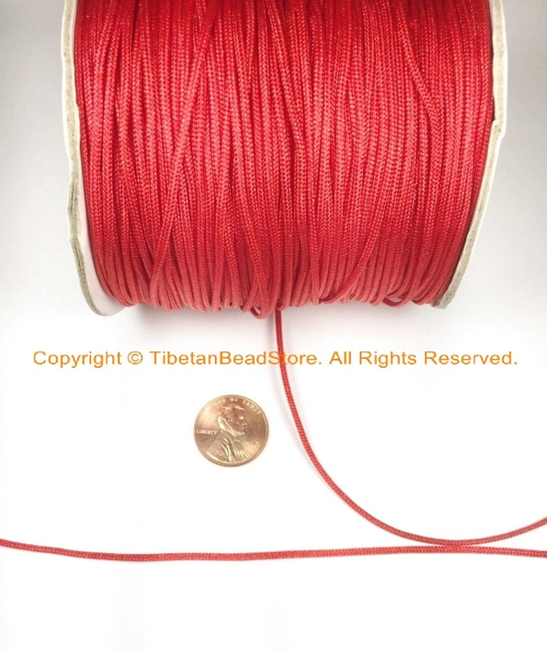 5 YARDS Red Jewelry Cord .8mm Thick Jewelry Supplies Necklace Bracelets SCR8-5 Red Cord String Twine Rope for Malas Prayer Beads