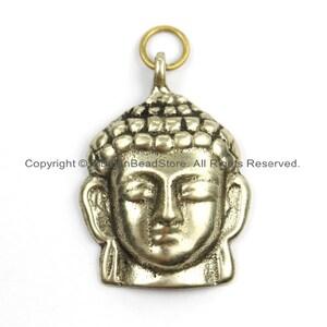 Small Nepalese Tibetan Brass Ganesh Charm Pendant Brass Charms Yoga Charm Pendant WM5759 Ganesh Charm Design \u00a9 TibetanBeadStore\u00ae