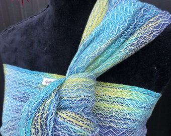 341b56f9e48 Handwoven Baby Wrap Blue Green 3.8m Baby Wearing Hand Dyed Cotton Baby  Sling Carrier Turquoise Teal Hand Weaving