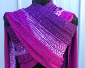af2a85a373a Handwoven Baby Wrap Magenta 3.6m Baby Wearing Hand Dyed Silk Baby Sling  Carrier Pink Purple Hand Weaving
