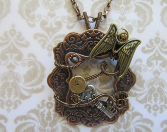 Steampunk Angel Statement Necklace