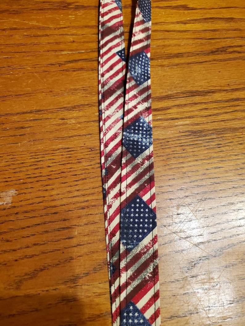 American flag lanyard