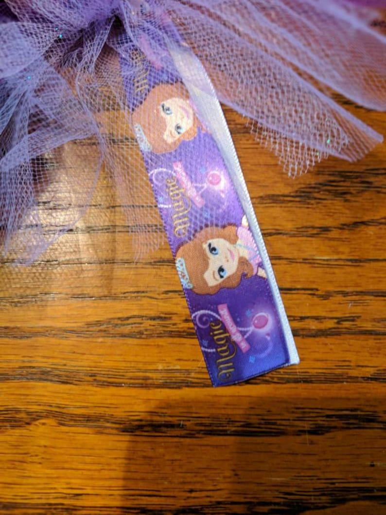 Sofia the first Tutu hair tie 4 inch