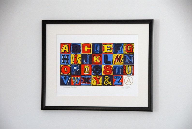 A  Z Vernacular Alphabet 5 colour limited edition screenprint image 0