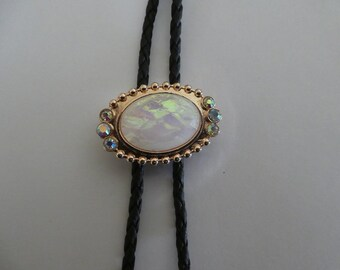 3ec0b03721bd Bolo tie with opal like stone slide