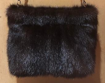 3 FOR 2 UK Soft Brown Real Mink Vintage Fur Ball Rose Craft Pompom Charm Tailor