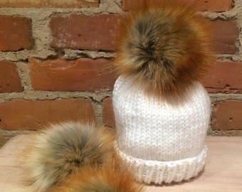 c37b8259b9ec Fausse fourrure Pom Pom, 3,5 pouces, le renard roux Faux, bébé Pom chapeau  Faux renard fourrure, Pompon, boule de fourrure, bonnet tricot Pom Pom  amovible, ...